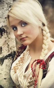 Braided-light-yellow-hairstyle-for-young-girls