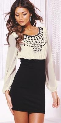 Lipsy dress black and white