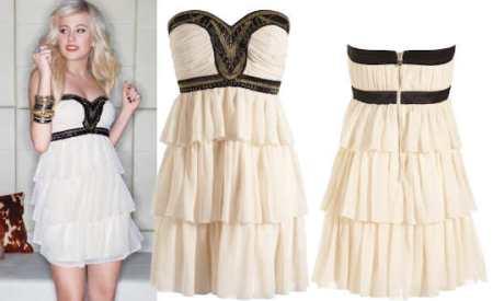Lipsy-Pixie-Lott-Embellished-Bandeau-Frill-Dress