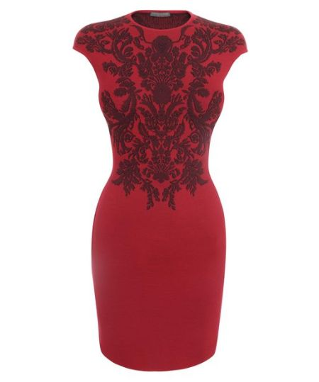 Alexander McQueen - Cherry Fil-Coupe Floral Jacquard Mini-Dress