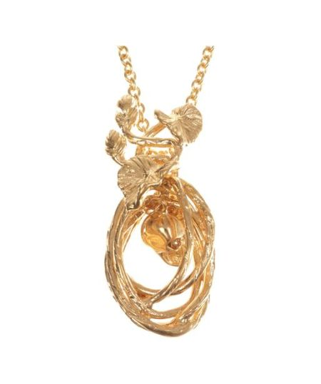 Alexander McQueen - Gold Ninfea Skull Pendant