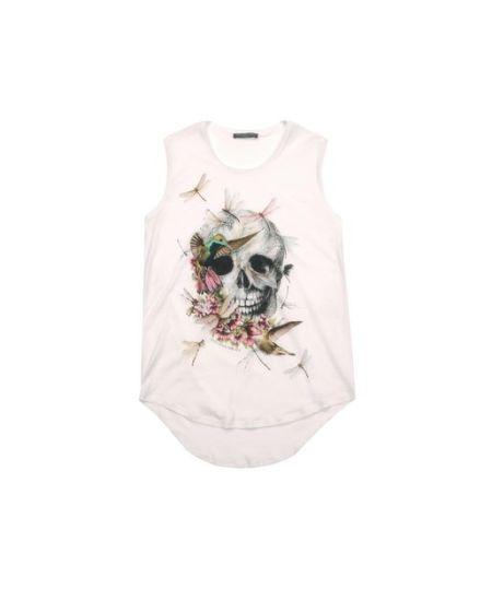Alexander McQueen - White Bird & Dragonfly Skull Vest
