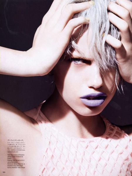 Hailey Clauson for Vogue Japan - Candy Kisses - February 2012