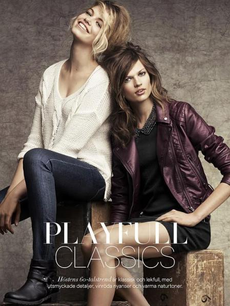 Hailey Clauson H&M - Playfull Classics - July 2012