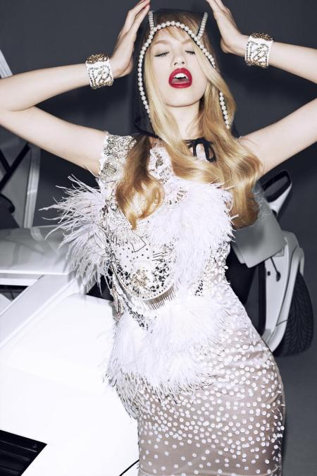 Hailey Clauson Vogue Japan - Car Crazy Cutie - June 2012