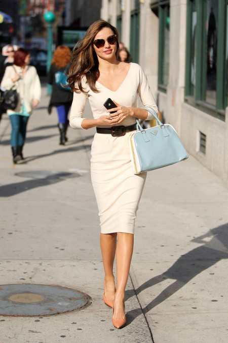 Miranda Kerr - Wearing white dress out and about in NYC-08